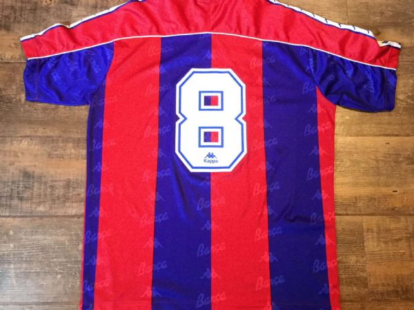 1992 1995 Barcelona No 8 Stoichkov Home Football Shirt Adults XL